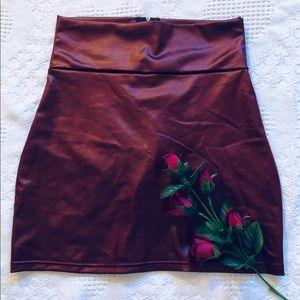 High Waisted Metallic Skirt